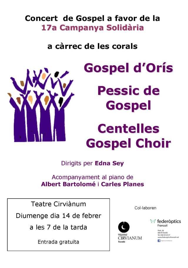 Concert Gospel Solidari, 14.02