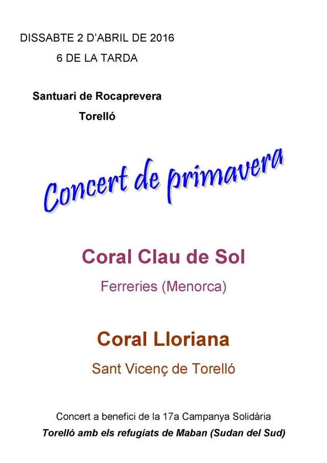 Concert Corals Lloriana i Clau de Sol, 02 04 2016
