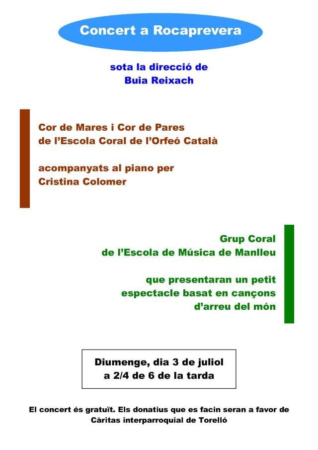 Concert a Rocaprevera, 03 07 2016